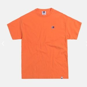KITH Russell Athletic Classic Tee Golden Poppy NWT
